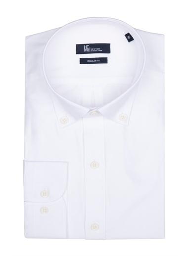 Hatemoğlu Casual Klasik Gömlek Beyaz